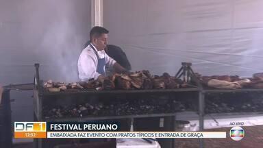 Festival Peruano leva comidas típicas a Brasília - Entrada é gratuita. Evento acontece na Embaixada do Peru.