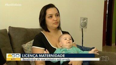 Empresária não consegue receber licença-maternidade por causa de erro no INSS, em Goiás - Ela mora em Valparaíso de Goiás, mas benefício foi direcionado para Valparaíso em São Paulo.