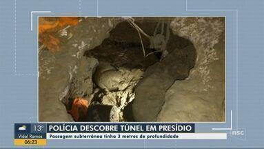 Polícia descobre túnel de três metros de profundidade em presídio de Blumenau - Polícia descobre túnel de três metros de profundidade em presídio de Blumenau
