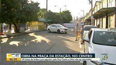 Obra muda o trânsito no Centro de Fortaleza - Saiba mais em g1.com.br/ce