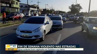 Acidentes de trânsito chamam a atenção na Região Metropolitana - Saiba mais em g1.com.br/ce