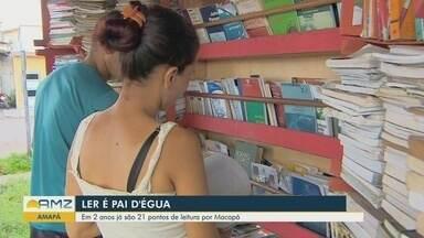 Há dois anos, projeto incentiva leitura em Macapá - Projeto 'Ler é pai d'égua' oferece 21 pontos de leitura.