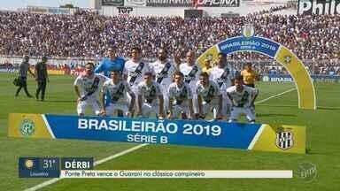 Ponte sai vencedora no dérbi e complica mais ainda a situação do Guarani - Vitória por 1 a 0 manteve a Macaca na luta por uma vaga no G4. Já o Bugre segue no fim da tabela.