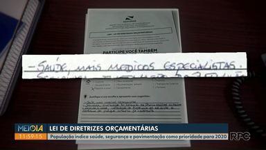 População elege saúde, segurança e pavimentação como prioridade para 2020 em Ponta Grossa - Neste ano, foram mais de 30 mil sugestões de moradores.