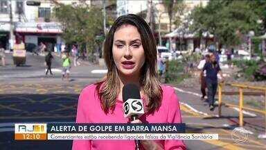 Comerciantes de Barra Mansa reclamam de ligações falsas da Vigilância Sanitária - Falsos agentes solicitam pagamento para que documentação seja liberada.