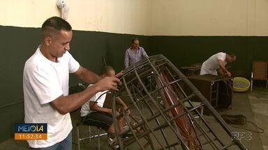 Projeto em Londrina quer ressocializar população carcerária por meio do trabalho - O projeto pretende incentivar empresários e também ajudar a profissionalização de detentos.
