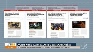 Matérias do G1 Santarém revelam que o trânsito em Santarém está perigoso - Confira as manchetes de casos, balanço mostra que pessoas são imprudentes e desatentas no trânsito.