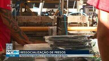 Presos vão produzir embalagens em fábrica dentro de presídio em Juiz de Fora - Projeto desenvolvido na Penitenciária Ariosvaldo Campos Pires oferece esperança e um recomeço para detentos.
