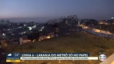 Obras da Linha 6-Laranja foram adiadas novamente - Trajeto da futura só pode ser feito via ônibus