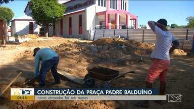 Obra em praça que faz parte da revitalização da catedral está atrasada em Balsas - Prazo de entrega da cidade era em fevereiro, mas os serviços estão sendo feitos de forma lenta.