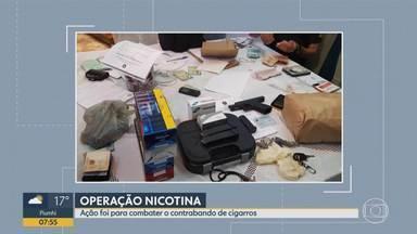 PF prende suspeitos de contrabandear cigarros em MG - Operação Nicotina foi realizada nas cidades de Belo Horizonte, Conselheiro Lafaiete e Desterro de Entre Rios.