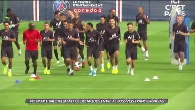 Neymar e Balotelli são os destaques entre as possíveis transferências do futebol europeu - Neymar e Balotelli são os destaques entre as possíveis transferências do futebol europeu