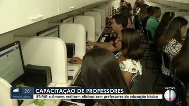 IFNMG e AMAMS realizam capacitação de professores no Norte de Minas - Professores da educação básica passam pelo projeto.