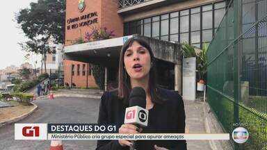 G1 no BDMG: MP cria grupo especial para apurar ameaças atribuídas a Wellington Magalhães - O grupo foi criado a pedido do procurador-geral Antonio Sérgio Tonet após repercussão de áudios atribuídos ao vereador com supostas ameaças a outro parlamentar e a um promotor.