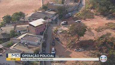 Polícia Civil realiza operação contra tráfico de drogas em Santa Luzia, na Grande BH - Cem agentes estão envolvidos na ação.