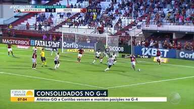 Série B: Atlético-GO e Coritiba vencem os jogos da terça-feira e mantêm posições na tabela - Clubes estão consolidados no G-4 da competição.