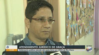 Defensoria pública realiza atendimento jurídico de graça em Cras de Rio Claro - Interessados podem tiver dúvidas, até sexta-feira (16), sobre aposentadoria, pensão e auxílio doença.