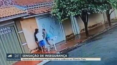 Moradores e comerciantes reclamam de insegurança em Ribeirão Preto, SP - Capitão da PM Paulo Henrique Junqueira de Carvalho falou sobre o assunto.