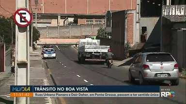Ruas Urbano Pianaro e Dair Daher, em Ponta Grossa, passam a ter sentido único - Mudanças no bairro Boa Vista começam a partir desta quarta-feira (14).