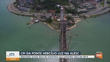 CPI da Ponte Hercílio Luz, em Florianópolis, tem reunião nesta quarta-feira (14) - CPI da Ponte Hercílio Luz, em Florianópolis, tem reunião nesta quarta-feira (14)
