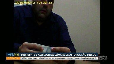 Presidente da Câmara de Astorga é flagrado pagando propina - Intenção era evitar denúncias feitas ao Ministério Público; assessor também foi preso