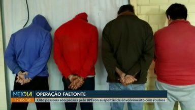 Suspeitos de roubos são presos pelo BPFron, em Marechal Rondon - Além das prisões, também foram apreendidos produtos que podem ter sido roubados.