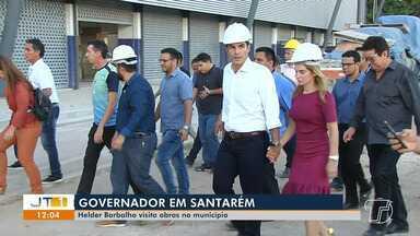 Governador do Pará, Helder Barbalho, visita obras do Estado em Santarém - Helder visitou as obras do Ginásio Poliesportivo e Terminal Hidroviário.