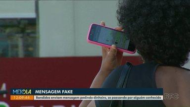 Polícia orienta sobre golpes por mensagens de celular e ligação - Bandidos enviam mensagem pedindo dinheiro e se passando por alguém conhecido da família.