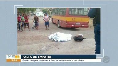 Imagens chocantes de acidente viralizaram em Corumbá - Gravar e distribuir imagens que expõem vítimas pode virar crime
