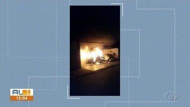 Polícia prende suspeito de incendiar carros e salão de beleza - Morador de rua confessou o crime.