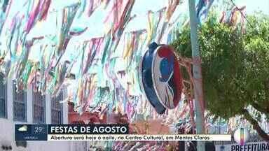 Festas de Agosto começa nesta quarta-feira (14) em Montes Claros - Está é a 180ª edição do evento tradicional.