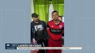 Polícia prende chefe de quadrilha que roubava casas em Niterói - Polícia tentava prender há mais de um ano Rodrigo Carlos dos Santos, que roubava casas de luxos.