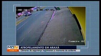 Vídeo mostra motociclista sendo atropelado em Araxá; motorista do caminhão é identificado - Condutor é um homem de 55 anos. A polícia investiga se ele foi omisso, não prestou socorro, ou não viu o acidente.