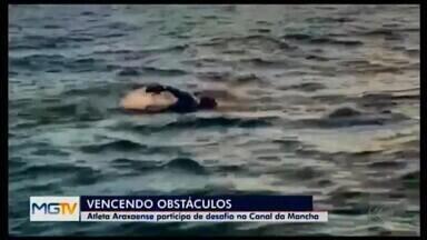 Nadadora de Araxá relata experiência ao tentar atravessar o Canal da Macha - Ultramaratonista Catarina Almeida não conseguiu completar o percurso no mar entre Inglaterra e França, mas volta com bagagem do desafio