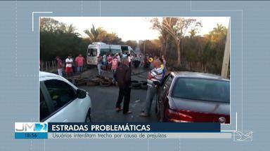 Moradores sofrem com a situação precária de estradas federais e estaduais no Maranhão - População reclama das péssimas condições das vias em vários municípios maranhenses.