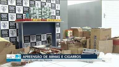 Homens são presos com armas e munições ilegais no Vale do Pindaré - Os dois comerciantes também foram presos com uma carga de cigarros que era vendida ilegalmente.
