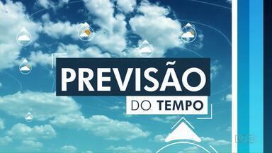 Tempo continua seco e com temperaturas baixas na região dos Campos Gerais - Confira a previsão do tempo.