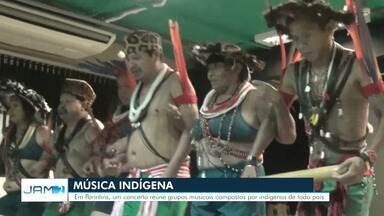 Música indígena é foco de apresentações em Parintins - Concerto reuniu grupos musicais compostos por indígenas.