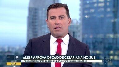 Alesp aprova opção de cesariana no SUS - Projeto de lei garante a opção do parto cirúrgico na rede pública.