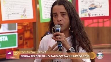 Bruna perdeu um filho baleado em junho de 2018 - Filho de Bruna foi morto uniformizado na Comunidade da Maré, no Rio de Janeiro