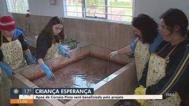 Apae de Correia Pinto recebe benefícios do Criança Esperança - Apae de Correia Pinto recebe benefícios do Criança Esperança