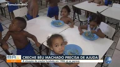 Creche Béu Machado enfrenta dificuldades financeiras para manter educação de crianças - Está faltando dinheiro até mesmo para custear a alimentação dos pequeninos.