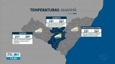 Veja a previsão do tempo para a sexta-feira (16) em Alagoas - Informações são do Laboratório de Análise e Processamento de Imagens de Satélites da Ufal.