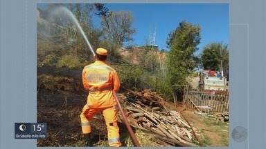 Diversos incêndios florestais são registrados em cidades do Sul de Minas - Diversos incêndios florestais são registrados em cidades do Sul de Minas