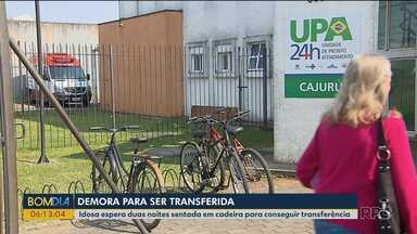 Mulher de 70 anos espera dois dias em UPA a transferência para um hospital - A idosa precisava de uma transfusão de sangue com urgência.