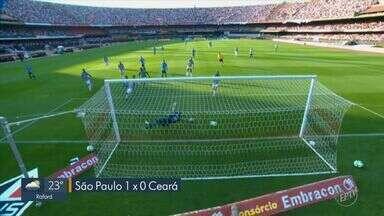 Daniel Alves marca na estreia e garante vitória para o São Paulo contra o Ceará - Camisa 10 do tricolor marcou o gol da vitória do São Paulo neste domingo (18) no Morumbi.