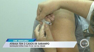 Atibaia reforça vacinação contra sarampo - Cidade tem dois casos confirmados da doença.