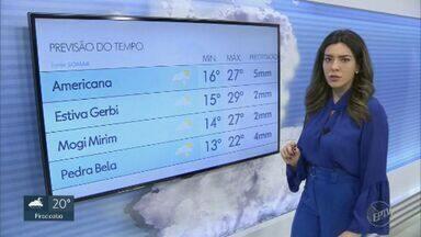 Confira a previsão do tempo para a região de Campinas nesta terça-feira (20) - Chegada de frente fria deve baixar temperaturas.