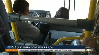 Passagem de ônibus passa pra R$4,04 e irrita passageiros - Passageiros de Paranavaí querem saber como vai ficar o troco