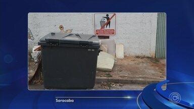 Lixo em frente a escola infantil incomoda pais e alunos em Sorocaba - Na Rua João pessoa, na Vila Jardini em Sorocaba (SP), tem lixo jogado em frente a uma escola infantil.